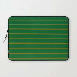 Emerald Green and Honey Gold Thin Stripes Laptop Sleeve