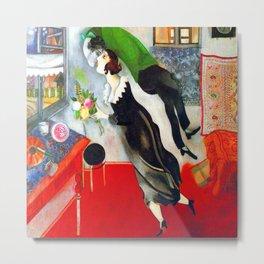 Marc Chagall The Birthday Metal Print