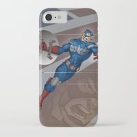 steve rogers iPhone & iPod Cases featuring Captain Steve Rogers by Jesse J Larsen