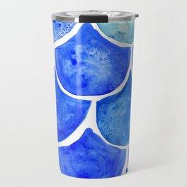 Mermaid Scales Blue & Turquoise Travel Mug