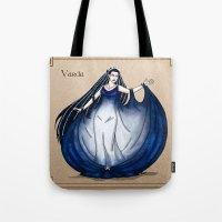 valar morghulis Tote Bags featuring Varda by wolfanita