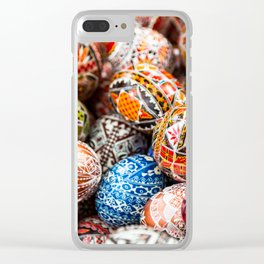 Handpainted Eggs Clear iPhone Case