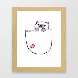 Marshmallow Pocket! Framed Art Print