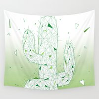 cactus Wall Tapestries featuring Cactus by ARCHIGRAF