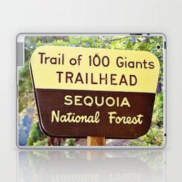 Trail of 100 Giants Vintage National Forest Sign Laptop & iPad Skin