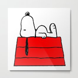 sleeping snoopy huft Metal Print