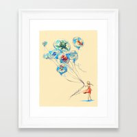 nursery Framed Art Prints featuring Water Balloons by Alice X. Zhang