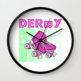 Roller Derby 70s Skate Disco Wall Clock