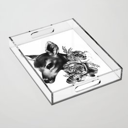Fawn & Flora II Acrylic Tray