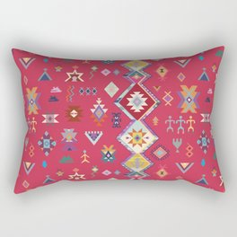 KILIM NO.1 IN DESERT MAGENTA Rectangular Pillow