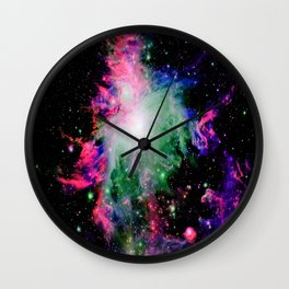 Orion Nebula Black Pyschedelic Wall Clock