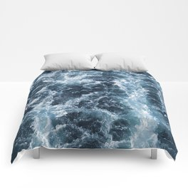 Sea Blue Wake - Pacific Ocean Comforters