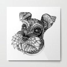 Ornate Schnauzer Metal Print