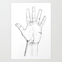 My Human Hand Art Print