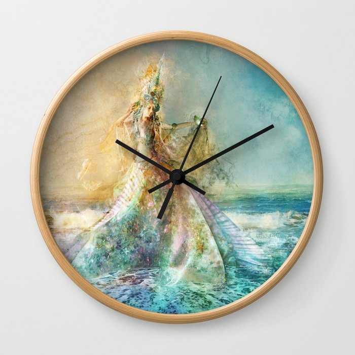 Shell Maiden Wall Clock