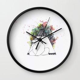 I'll Be In My Teepee Wall Clock