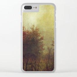 Fall Rust Clear iPhone Case