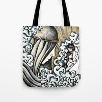 valar morghulis Tote Bags featuring Second meeting by Anca Chelaru