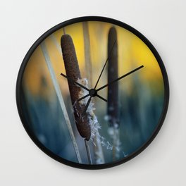 Typha Wall Clock
