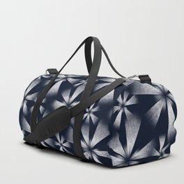 Fragmented Burst in B&W Duffle Bag