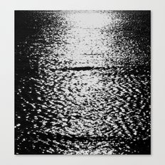 Sea black and white vintage photo Canvas Print