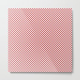 Fiery Red Polka Dots Metal Print