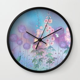 English Garden painting Wall Clock