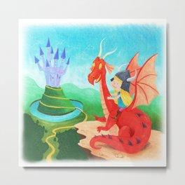 The Girl and The Dragon Metal Print