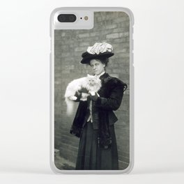 Cat Lady Clear iPhone Case
