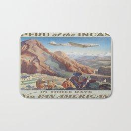 Vintage poster - Peru Bath Mat