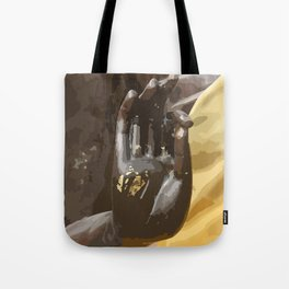 Buddha Hand Illustration Tote Bag