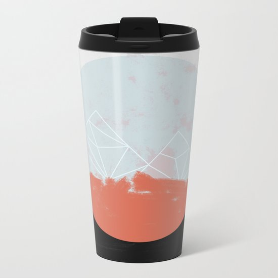 Landscape Abstract Metal Travel Mug