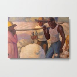 African American Masterpiece 'Works in the Fields' by Thelma Johnson Streat Metal Print