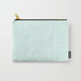 Pale Blue Zig Zag Carry-All Pouch
