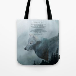 Wilderness Wolf & Poem Tote Bag