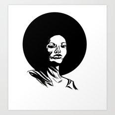 Pam Grier Art Print