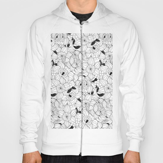 Daffodils spring floral pattern Hoody