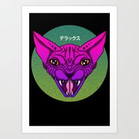 sphynx Art Prints featuring SPHYNX by SHIN DE☆LUXE