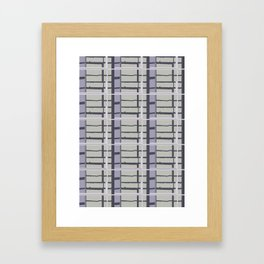 City Road Check Framed Art Print