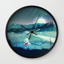 A Mermaid's Dream Wall Clock