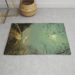 A Wet Road By Moonlight - John Atkinson Grimshaw Rug