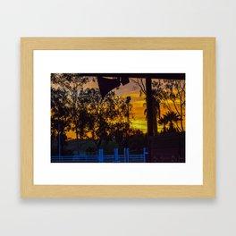 Surf City Equestrian Sundown Framed Art Print