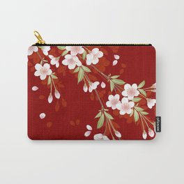 Japanese Sumi Cherry Blossom Print Carry-All Pouch