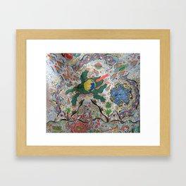 Volcano Lizard Framed Art Print