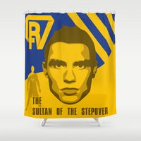 ronaldo Shower Curtains featuring Christiano Ronaldo - The Sultan of the Stepover by Marc Dahl