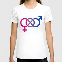 bisexual T-shirts featuring Bisexual by Clara Hollins