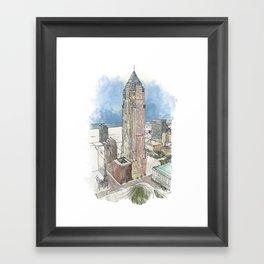 Cleveland Key Tower Framed Art Print