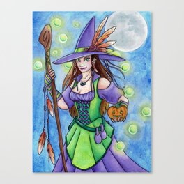 Witch Lights Canvas Print