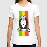 rasta T-shirts featuring Rasta Lion by Awesome