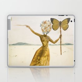 Vintage poster-Salvador Dali-Woman with a butterfly.  Laptop & iPad Skin